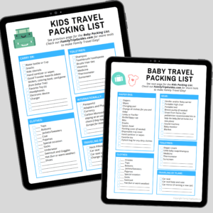 Free Packing Lists for Babies and Kids