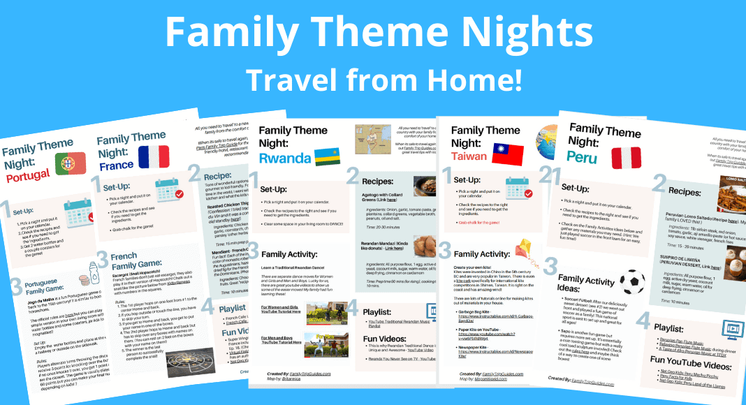 Family Theme Nights to Travel from Home