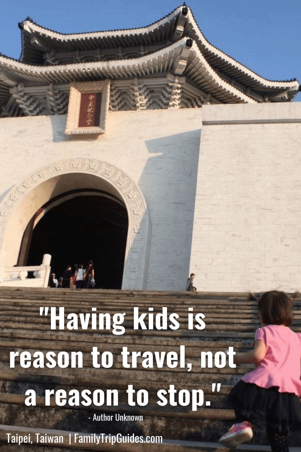 Family Travel Quote with Taipei Kid