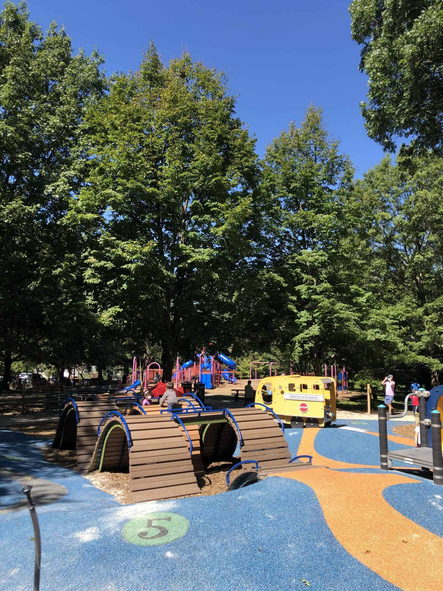 Preschool area of Chestnut Hills Best Playgrounds in Arlington Va