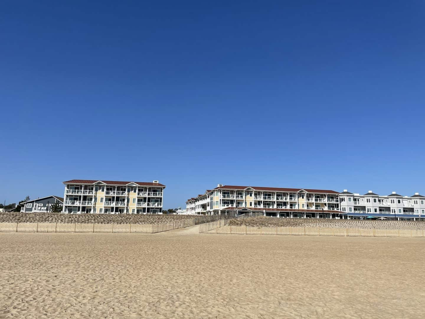 Bethany beach Ocean Suites Hotel Exterior from beach