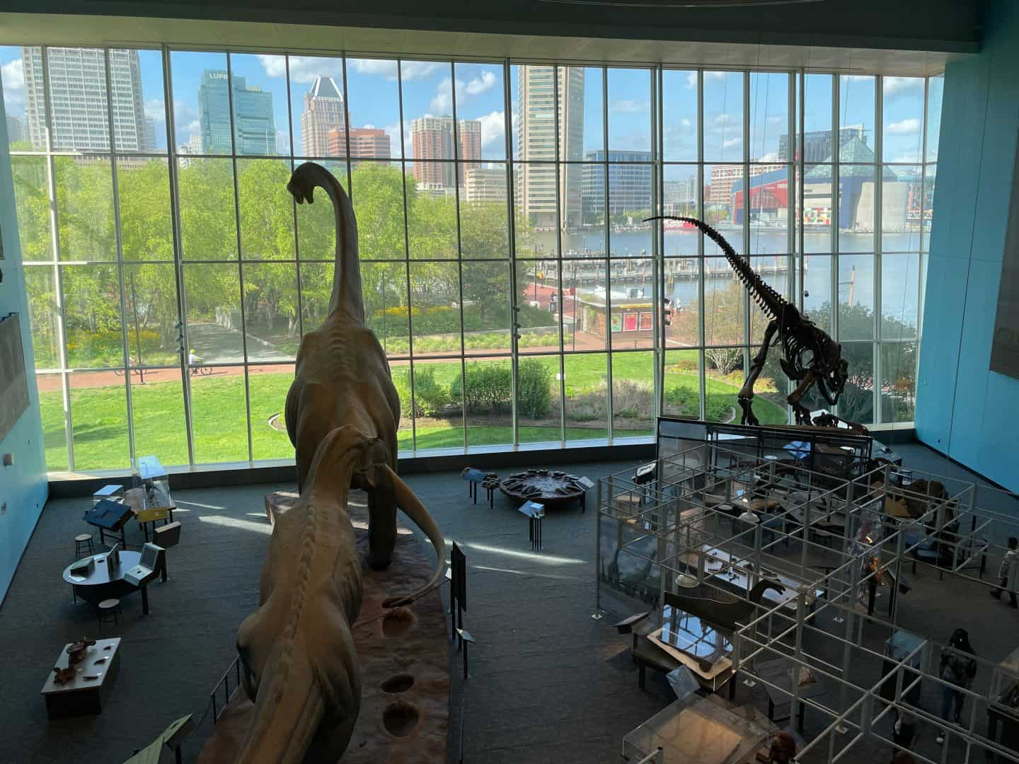 maryland science center parking is just a block away to the left of this view.